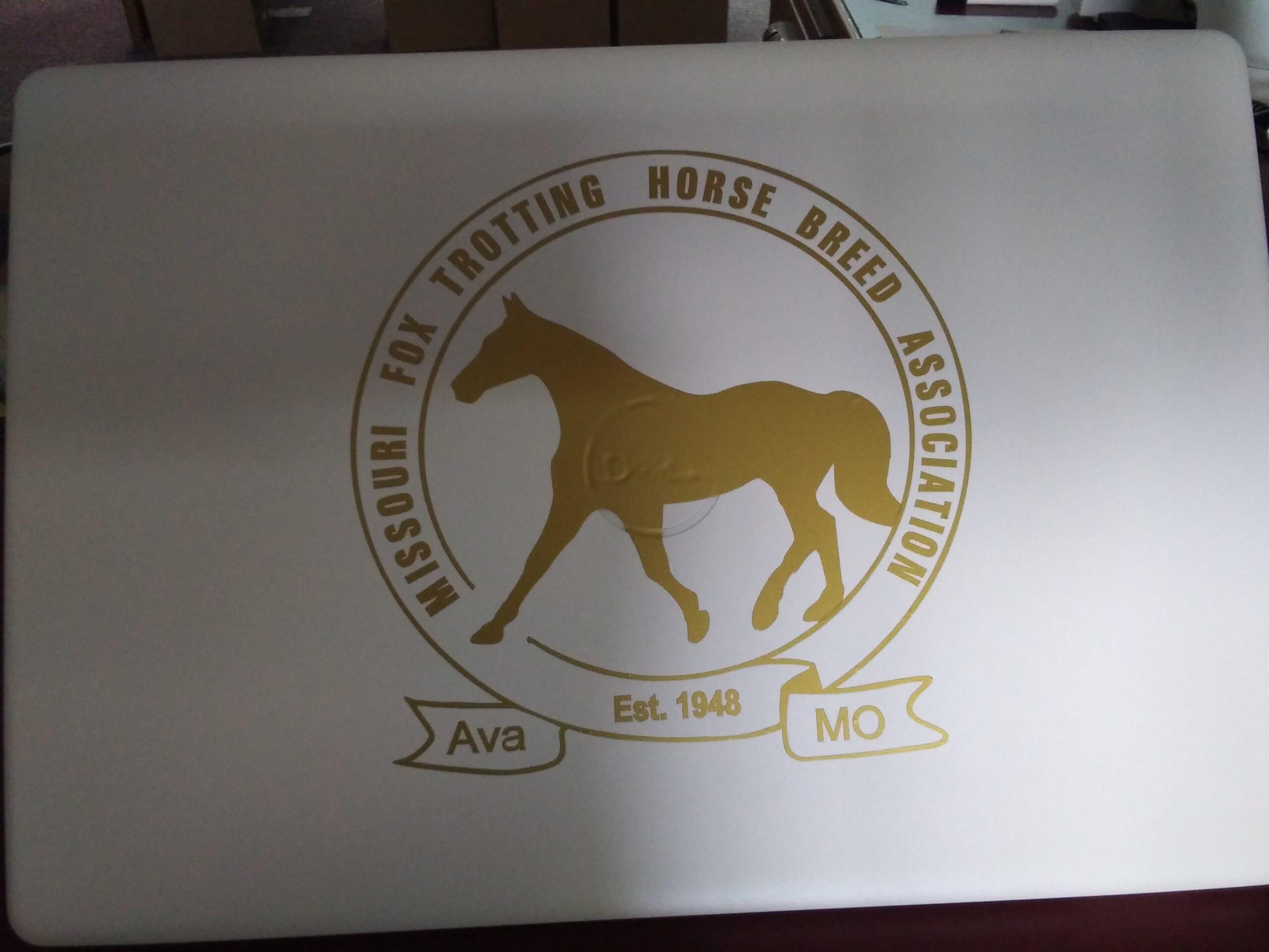 Gold Die Cut Logo Decal