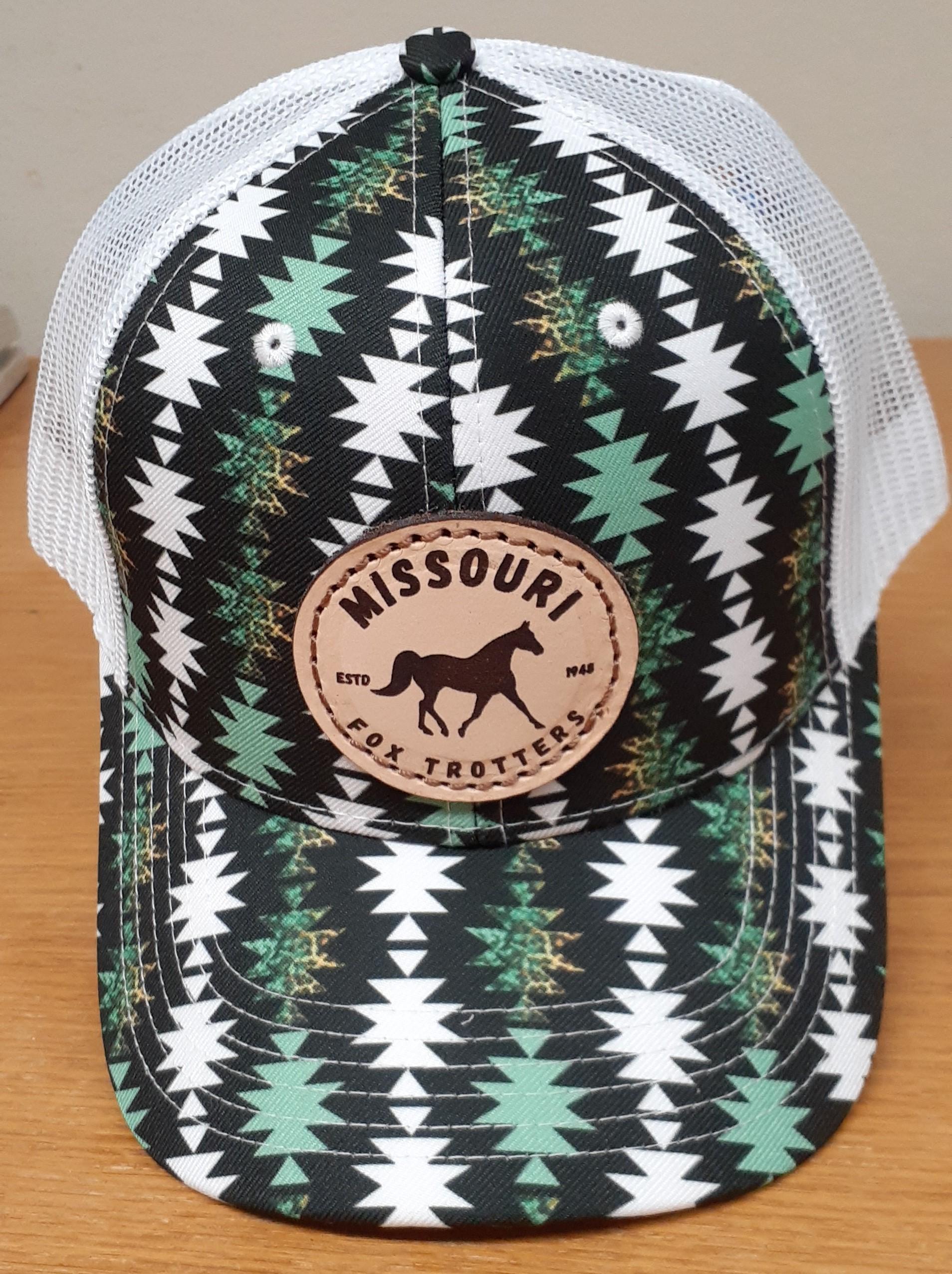 Black, Green and White Aztec Cap