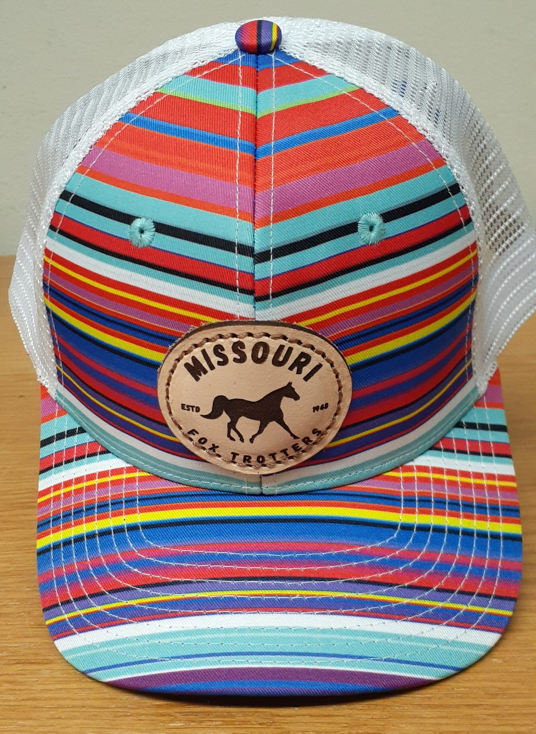 Multi Color Stripe Cap
