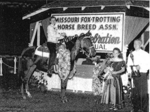 Lady Jazz, winner of Amateur 2 Year Old Mares and World Grand Champion Amateur 2 Year Old, owned and shown by Pat Waggoner, Lebanon, Mo.